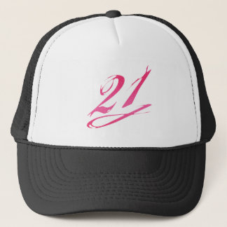 Girly 21st Birthday Trucker Hat