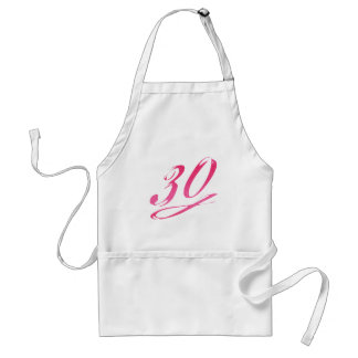 Girly 30th Birthday Standard Apron