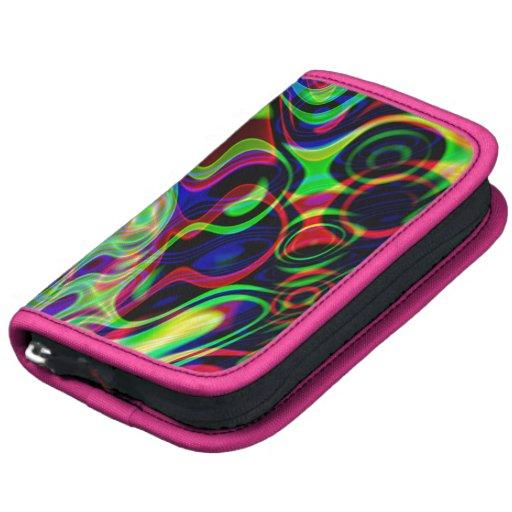 Girly Abstract Pink Trim Smartphone Folio Organizer