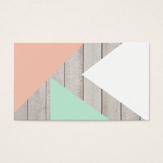 Girly Apricot Teal Gray Wood Modern Color Block