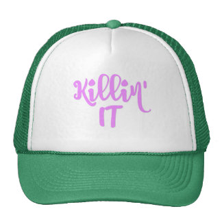 Girly Athletic Trucker Hat - Killin' IT