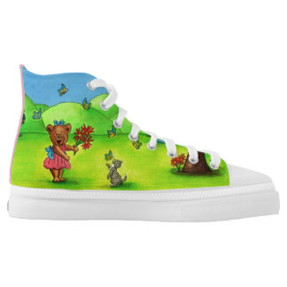 Girly Bear Personalised High Top Sneakers