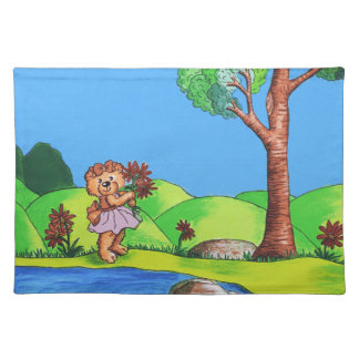 Girly Bear Placemat