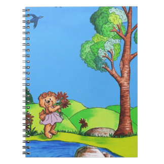 Girly Bear Spiral Notebook
