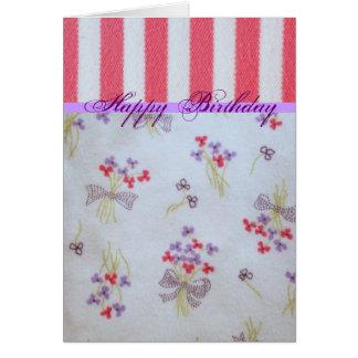 Girly Birthday Card