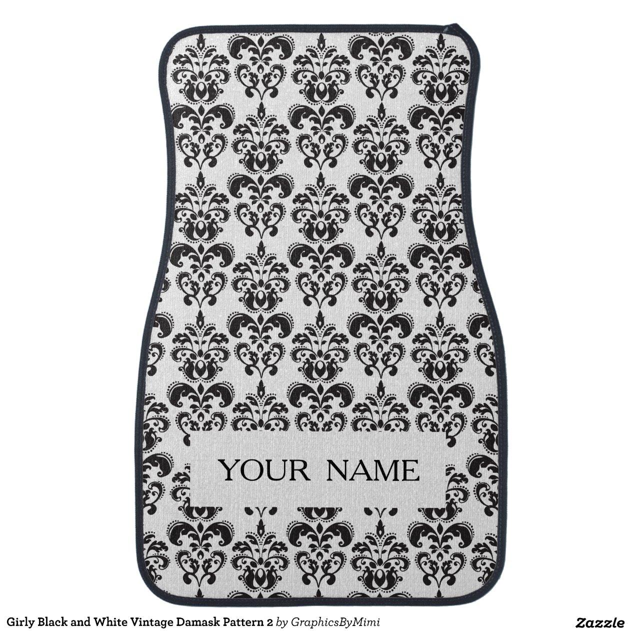 Girly Black And White Vintage Damask Pattern 2 Zazzle