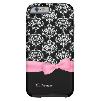 Girly Black & White Damask iPhone 6 case