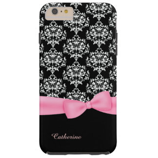 Girly Black & White Damask iPhone 6 Plus case