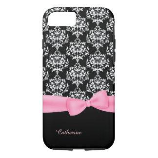 Girly Black & White Damask iPhone 7 case