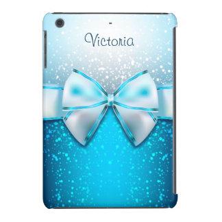 Girly Blue Glitter Holiday iPad Mini Case
