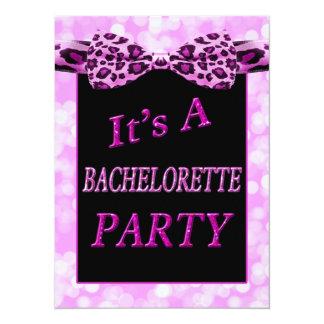 Girly Bokeh Dots Sparkle Bacherlorette Party 14 Cm X 19 Cm Invitation Card