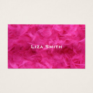 Girly Bright Pink Feather Sexy Business Card