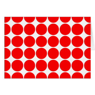 Girly Chic Accessories Party Treats Red Polka Dots Card