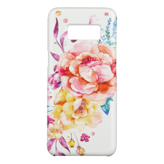 Girly Chic Coral Pretty Trendy Watercolor Floral Case-Mate Samsung Galaxy S8 Case