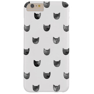 Girly Chic Cute Cat Pattern Barely There iPhone 6 Plus Case