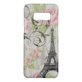 girly chic eiffel tower vintage victorian floral Case-Mate samsung galaxy s8 case