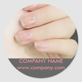 girly chic elegant manicure nails nail salon classic round sticker