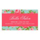 Girly Chic Elegant Vintage Floral Roses Pack Of Standard Business Cards