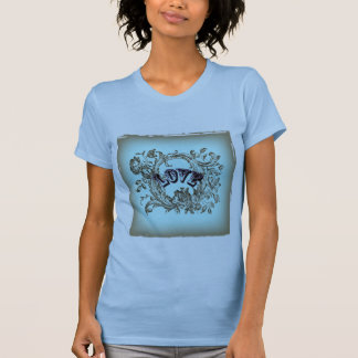 girly chic flourish swirl pastel colors victorian T-Shirt