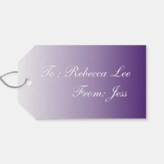 Girly Chic minimalist ombre lilac lavender purple Gift Tags
