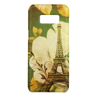 girly chic paris eiffel tower vintage floral Case-Mate samsung galaxy s8 case