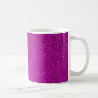 Girly coffee mug with faux pink glitters