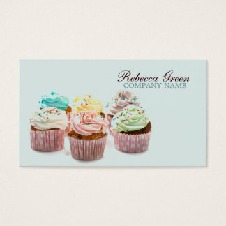 girly colorful cupcakes bakery