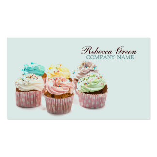 girly colorful cupcakes bakery pack of standard business cards