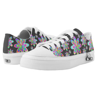 Girly Colorful Flowers Printed Shoes