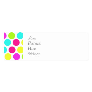 Girly Colorful Polka Dots Pattern for Girls Double-Sided Mini Business Cards (Pack Of 20)