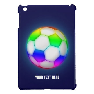Girly Colorful Soccer | Football Case For The iPad Mini