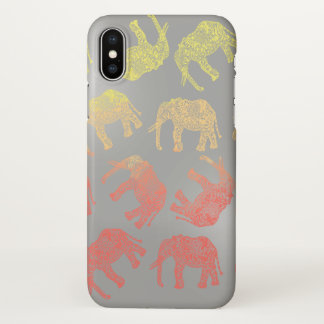 girly colorful tribal floral elephant pattern iPhone x case