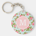 Girly Cottage Chic Romantic Floral Vintage Roses Key Chains