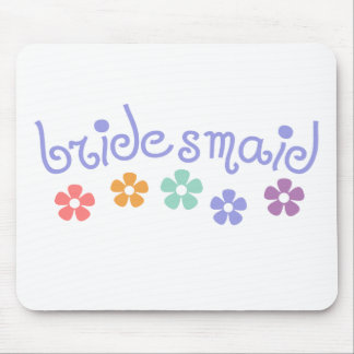 Girly-Cue Bridesmaid Mouse Pad