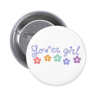 Girly-Cue Flower Girl 6 Cm Round Badge