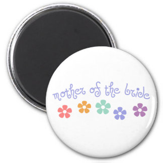 Girly-Cue Mother of Bride 6 Cm Round Magnet