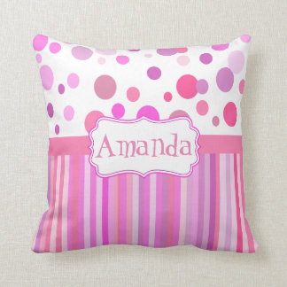 Girly custom cushion, girl's room cushion