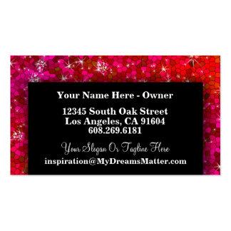 Girly Cute Glitter Professional Hair MakeUp Artist Business Card