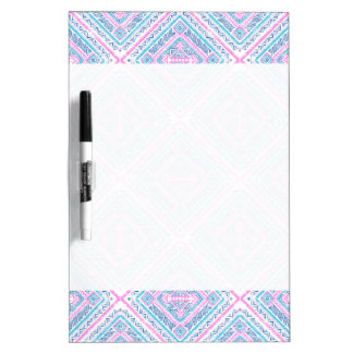 Girly Cute Pink Blue Aztec Tribal Pattern Dry Erase Board
