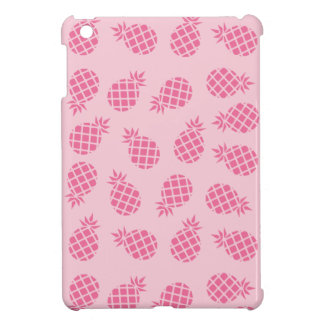Girly cute summer pastel pink pineapple pattern cover for the iPad mini