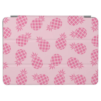 Girly cute summer pastel pink pineapple pattern iPad air cover