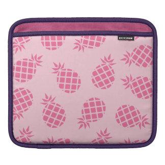 Girly cute summer pastel pink pineapple pattern iPad sleeve