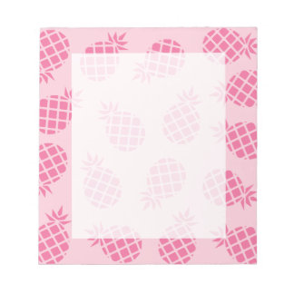Girly cute summer pastel pink pineapple pattern notepad