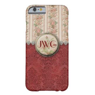 Girly Damask Monogram iPhone 6 case