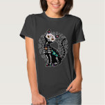 Girly Day of the Dead cute cat custom personalised T-shirt