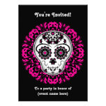 Girly day of the dead sugar skull 5x7 party personalized invitation
