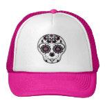 Girly day of the dead sugar skull cap