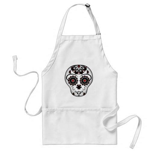 Girly day of the dead sugar skull super cute apron