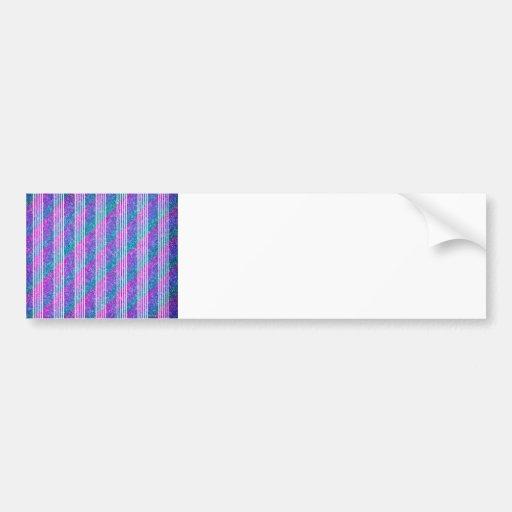 Girly Diagonal Stripes Bumper Sticker