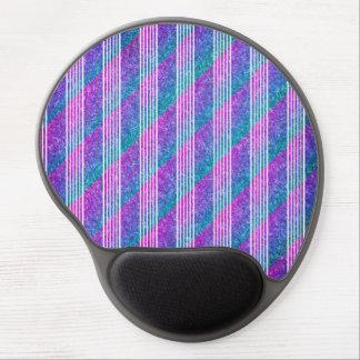 Girly Diagonal Stripes Gel Mouse Mat